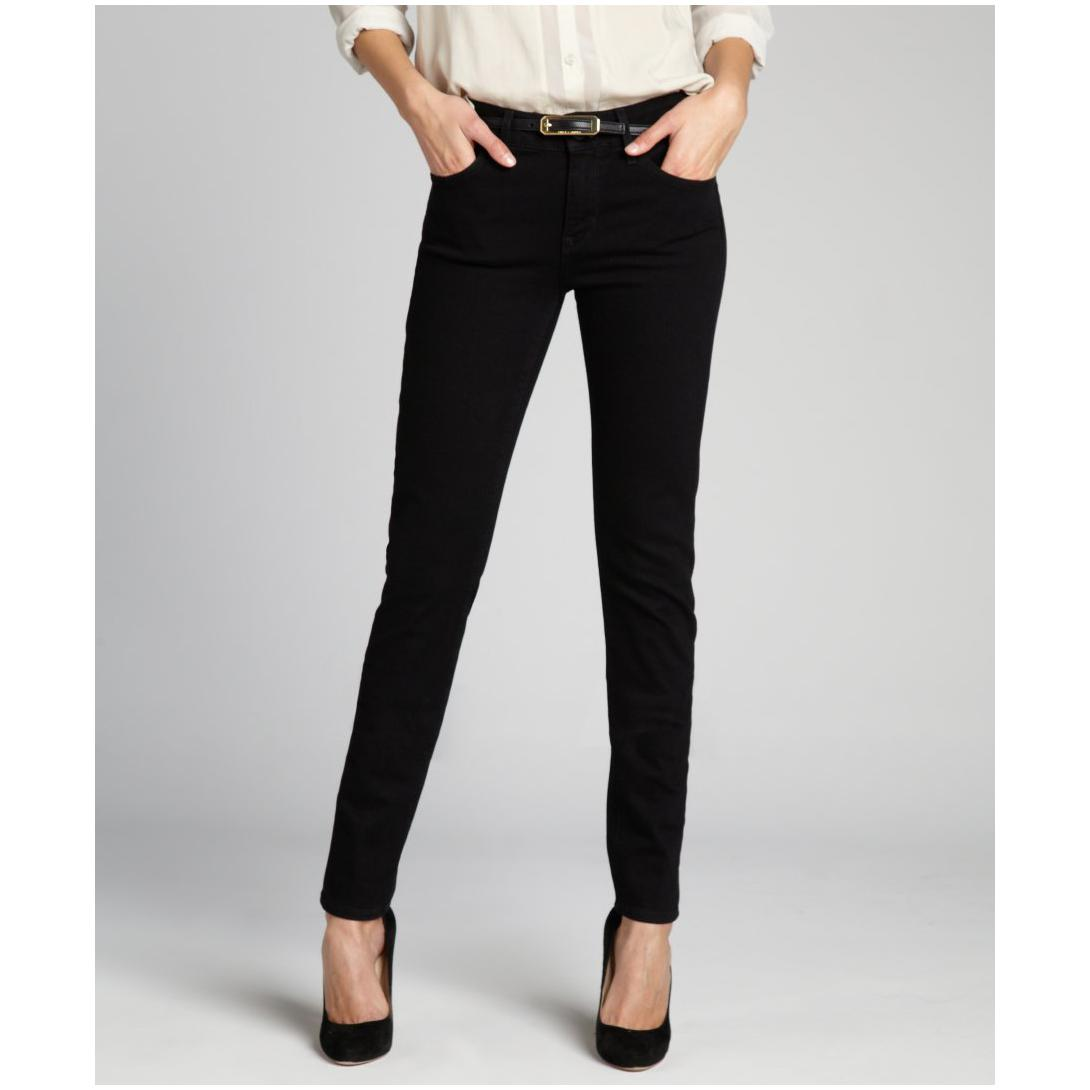 High stretch denim with a super skinny leg and slim fit through hip and thigh Signature by Levi Strauss & Co. Gold Label Women's Totally Shaping Skinny Jean by Signature by Levi Strauss & Co. Gold Label.