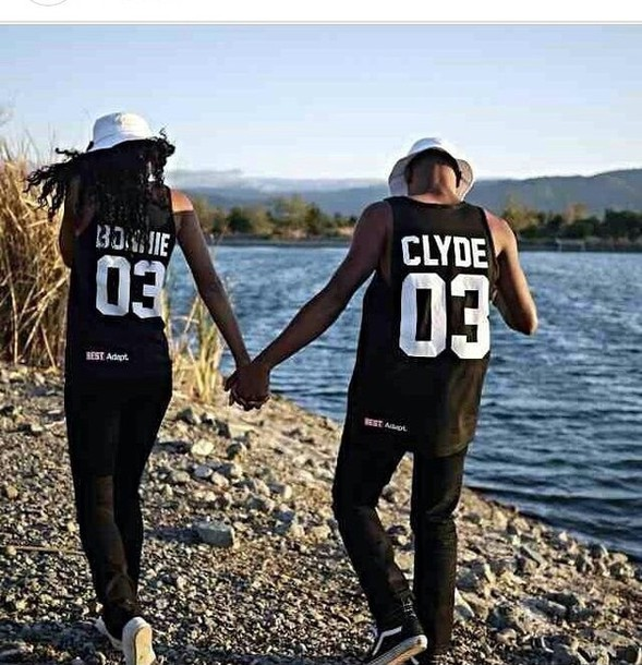 ... bonnie+clyde-matching+shirts-matching+couples-couple+clothing-t+shirt