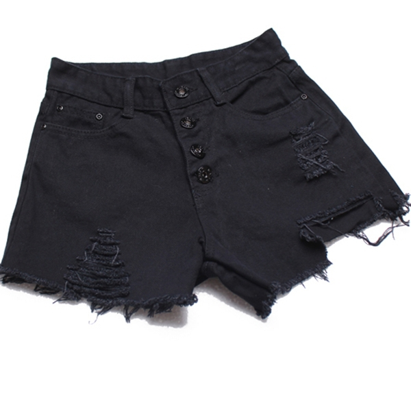 Women-vintage-High-waist-shorts-jeans-feminino-Ripped-Hole-short-jeans-denim-female-distress-cutoffs-shorts