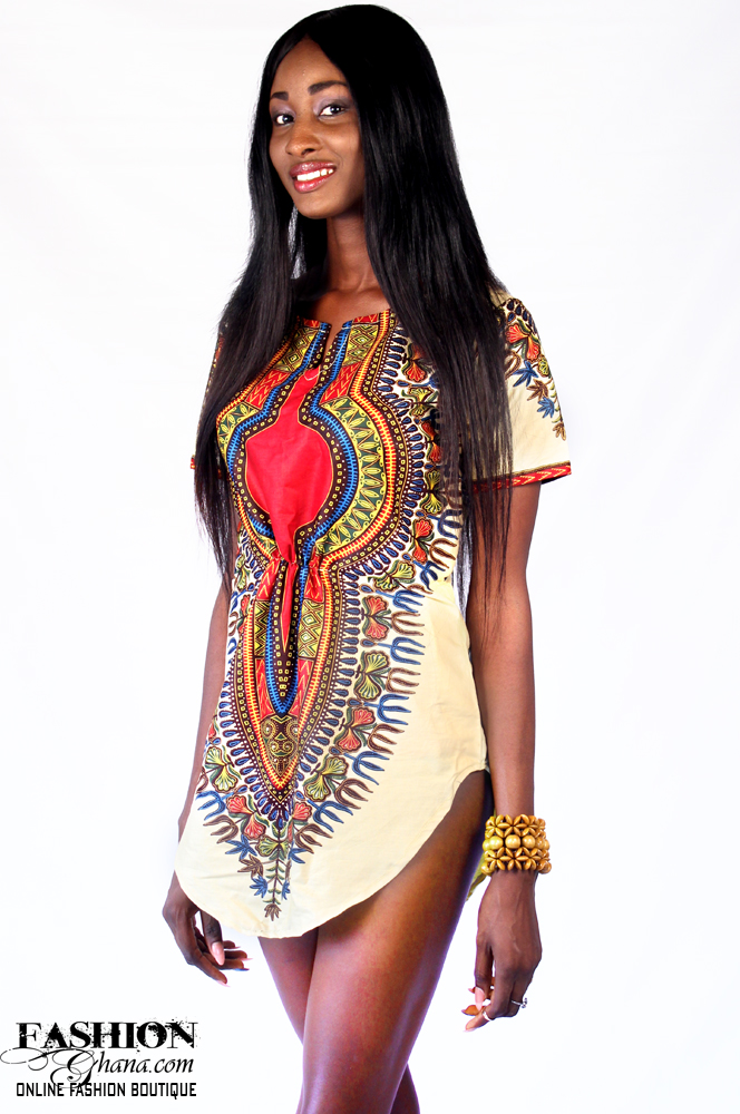 dashiki angelina print tshirt dress fashionghanacom