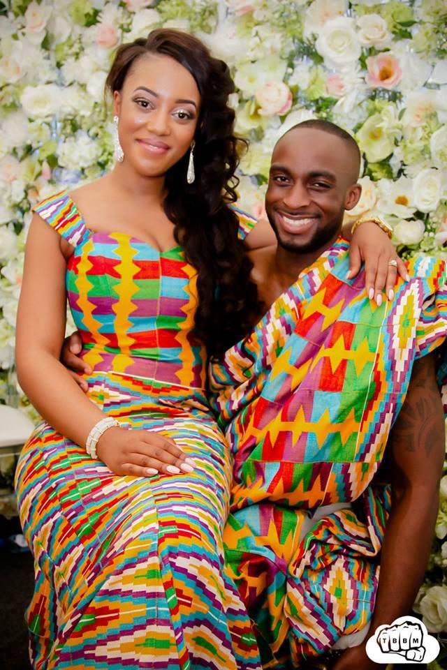 Hot shots mr mrs opoku s amazing kente pre wedding for African traditional wedding dress styles