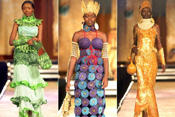 "Scenes from the ""Fashion for Peace"" show in Nairobi ... frocks by Nigerian designer Bayo Adegbe."