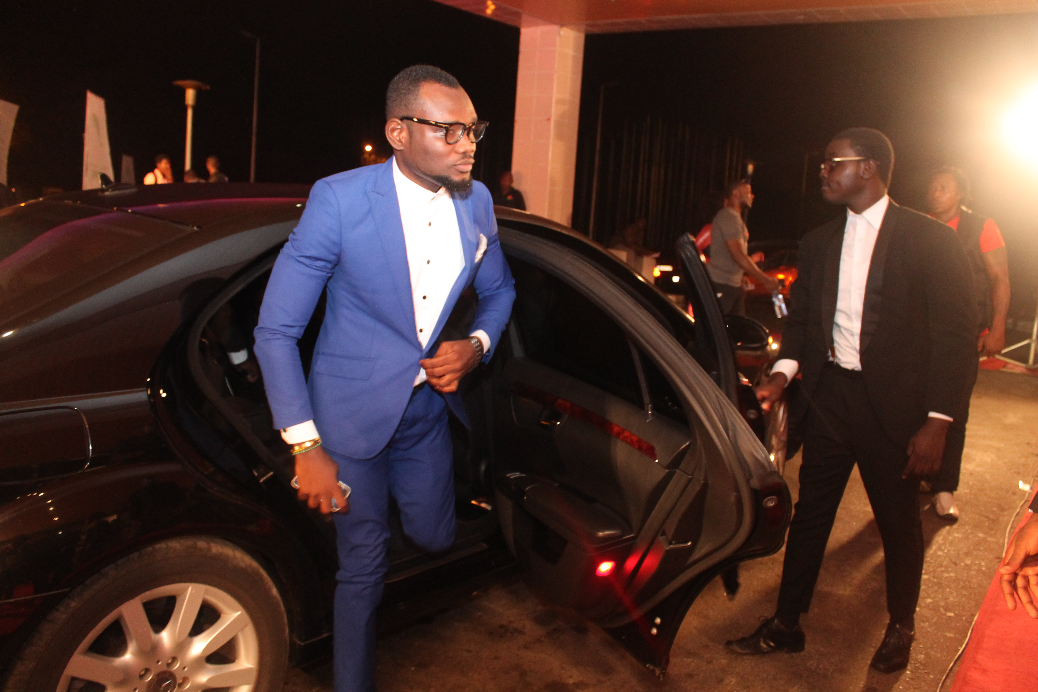 Prince David Osei gets from Luxurious Car