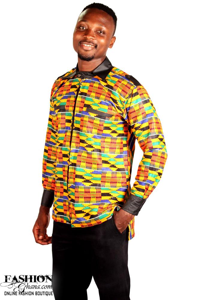 Kente Print Winter Shirt Fashionghana Com 100 African