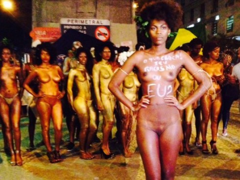 Brazilian models go nude to protest against even harsher racial abuse, not one top black models mentions it even on social media. Read Here