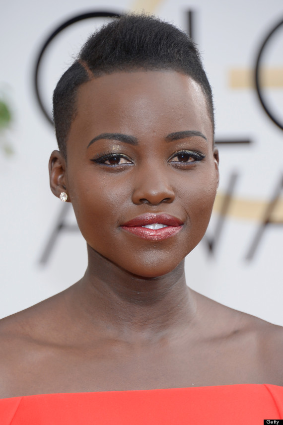 BEVERLY HILLS, CA - JANUARY 12:  71st ANNUAL GOLDEN GLOBE AWARDS -- Pictured: Actress Lupita Nyong'o arrives to the 71st Annual Golden Globe Awards held at the Beverly Hilton Hotel on January 12, 2014 --  (Photo by Kevork Djansezian/NBC/NBC via Getty Images)