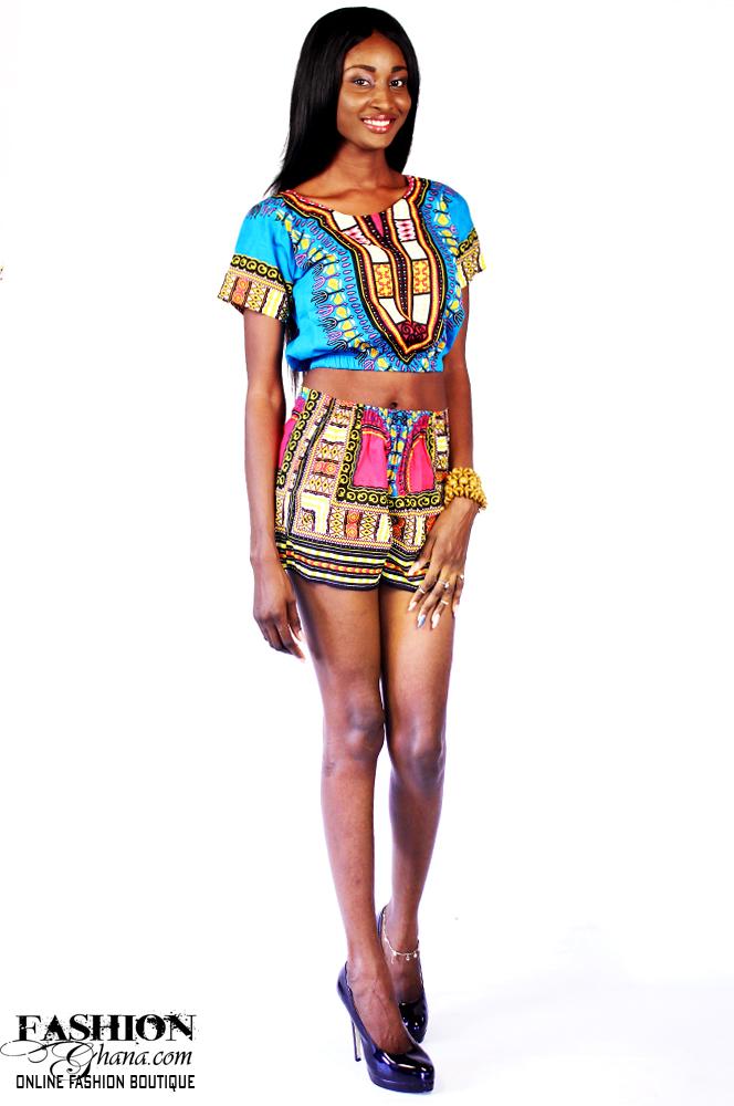 dashiki angelina print crop top amp shorts outfit