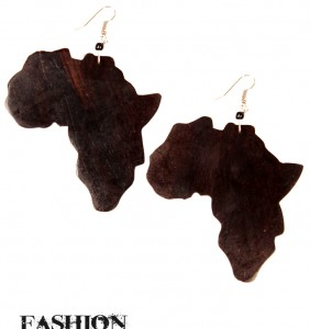 Large Coconut Africa Earrings