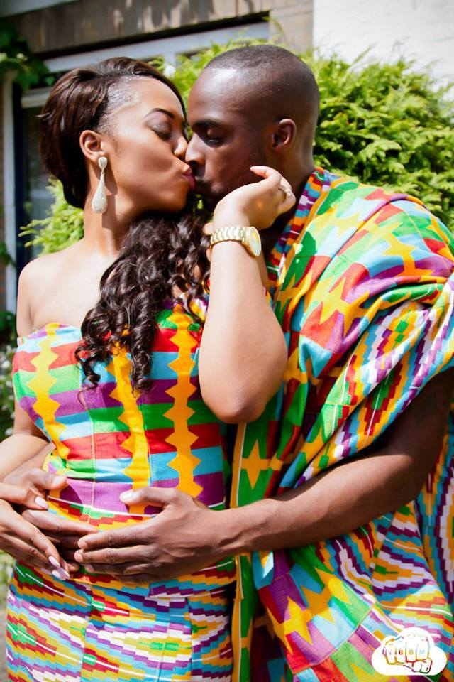 Hot Shots Mr Amp Mrs Opokus Amazing Kente Pre Wedding Pictures