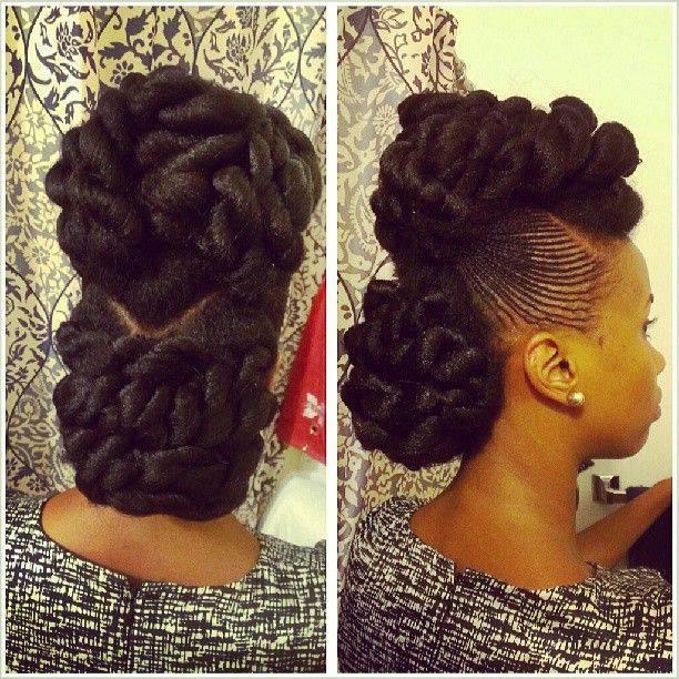 afro natural hair braids cane rolls (9)