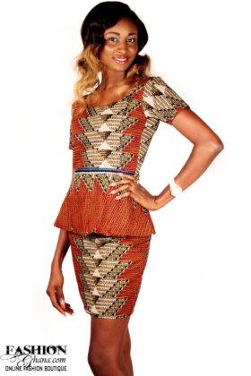 african print peplum top1