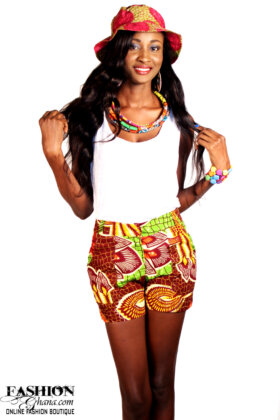 african print shorts1