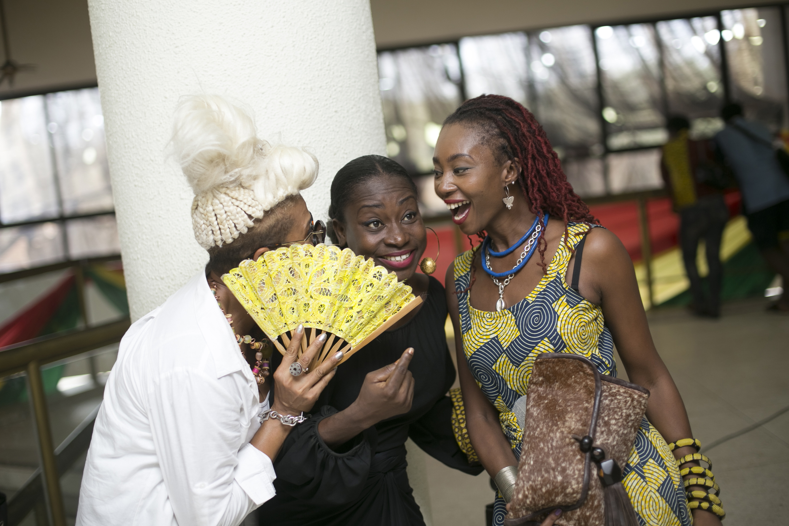 Designers having fun; Beatrice'Bee'  Arthur, Ivana Annan and Makeba Boateng
