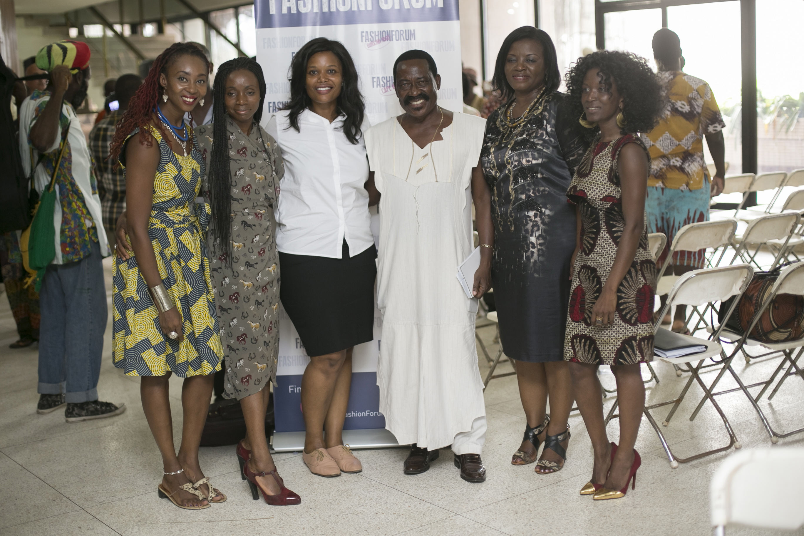 L-R, Makeba Boateng, Yvonne Ntiamoah, Hillary Sarah Andoh, Tetteh Adzedu of Shapes, Sarah Norkor Anku; State Attorney and FFG co-ordinator Aretha Amma Sarfor-Kantaka