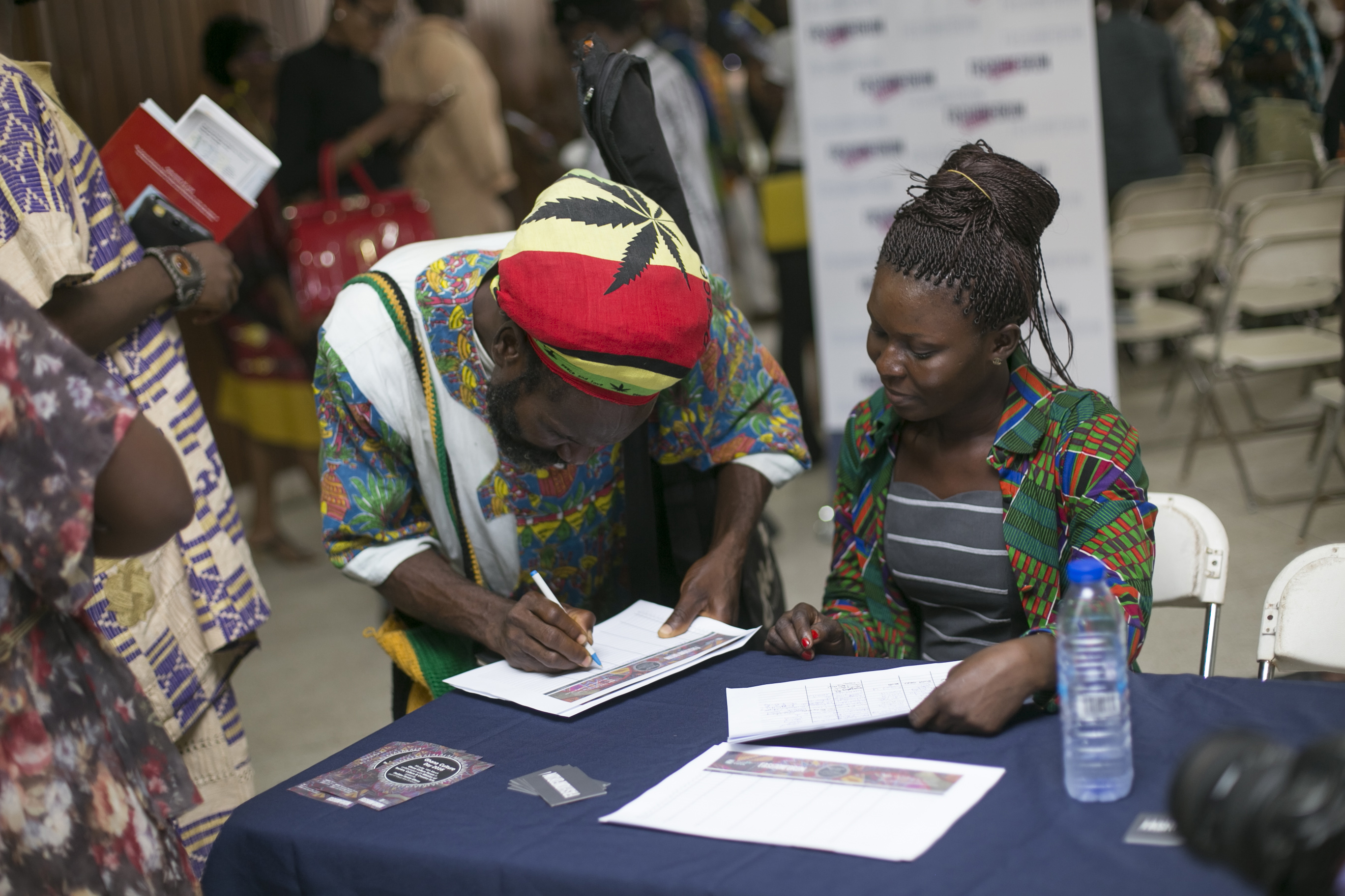 Signing In at FFG with FFG assitant Mawuena Agbokou