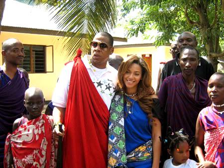 Jay Z & Beyonce in Tanzania