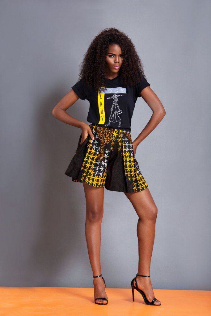 More for the funky girl. Ankara print skirt or baggy shorts, alongside with your teen tops, always a fabulous effect.