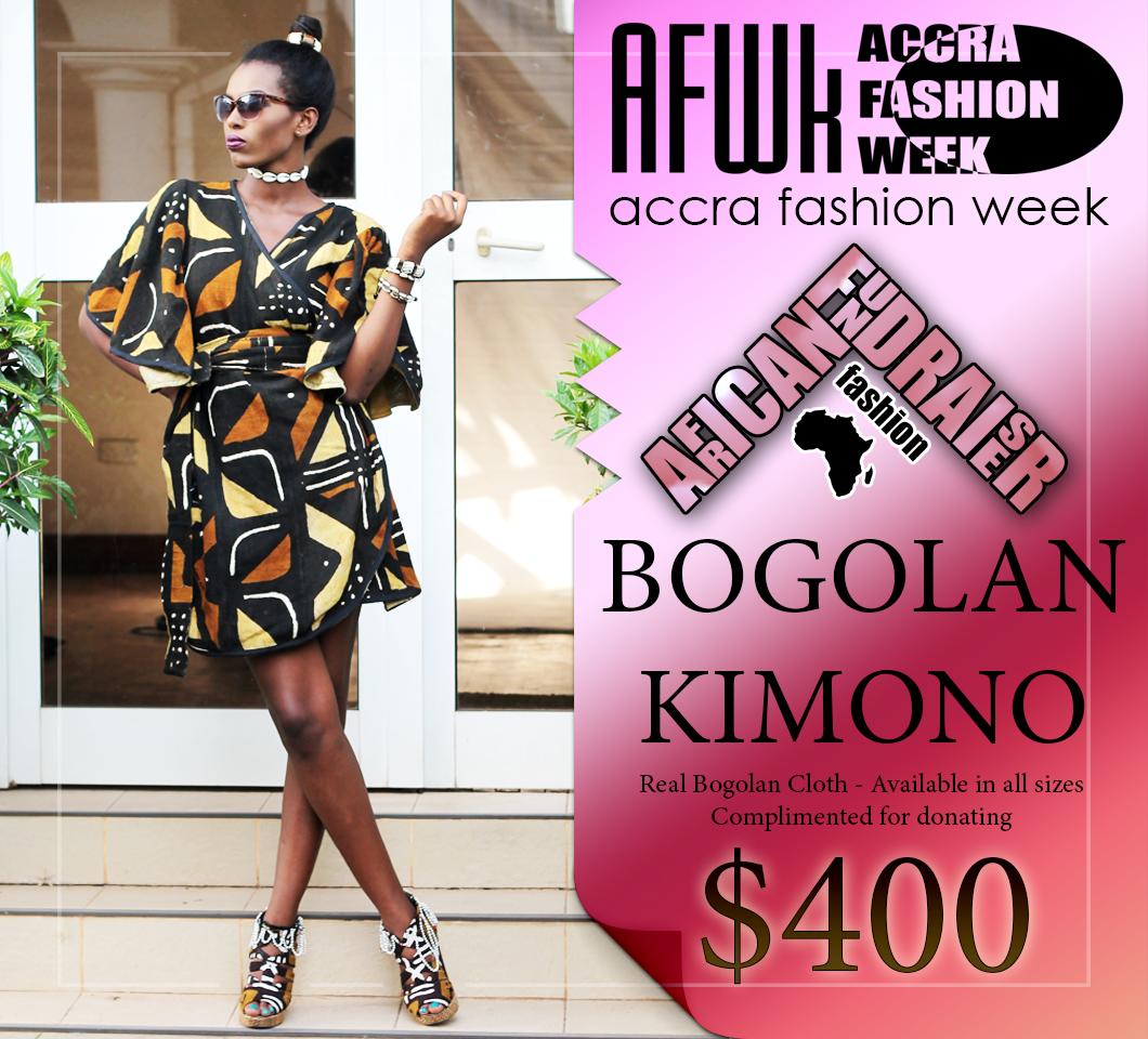 Bogolan Kimono