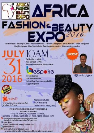 Nigeria: African Fashion Beauty EXPO 2016 @ Bespoke Center | Lekki | Lagos | Nigeria