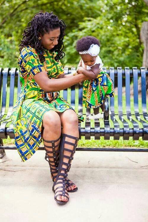 mother and daught african fashion pics (4)