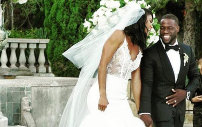 see pictures of kevin harts very private wedding as he