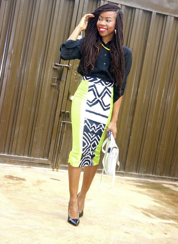 pencil skirt print african fashion (1)