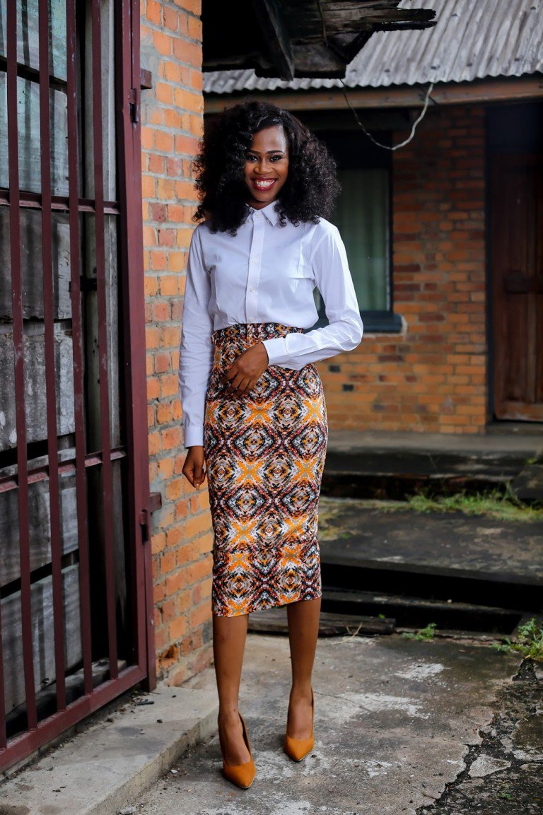 pencil skirt print african fashion (6)