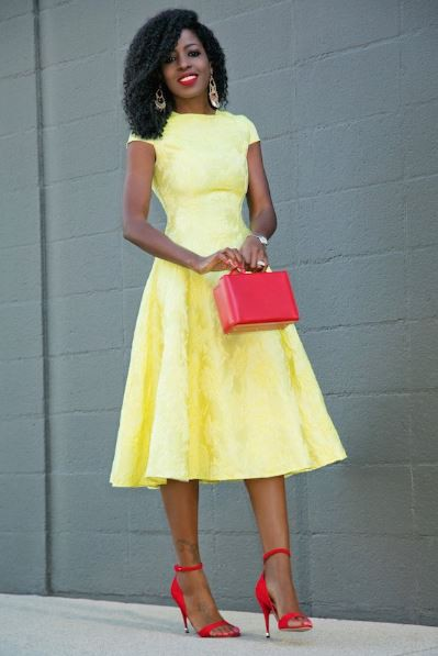 Going for a cute corporate gown like this at work should be on your mind this week