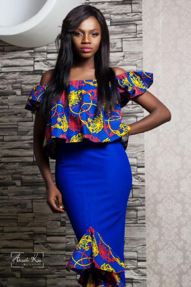 Afriken Off Shoulder Top With Detailed Skirt