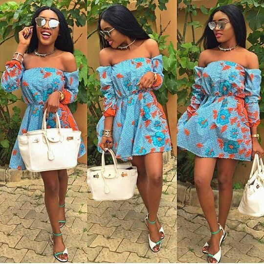 Fgstyle The 9 Most Popular Off Shoulder Ankara Print Styles So Far