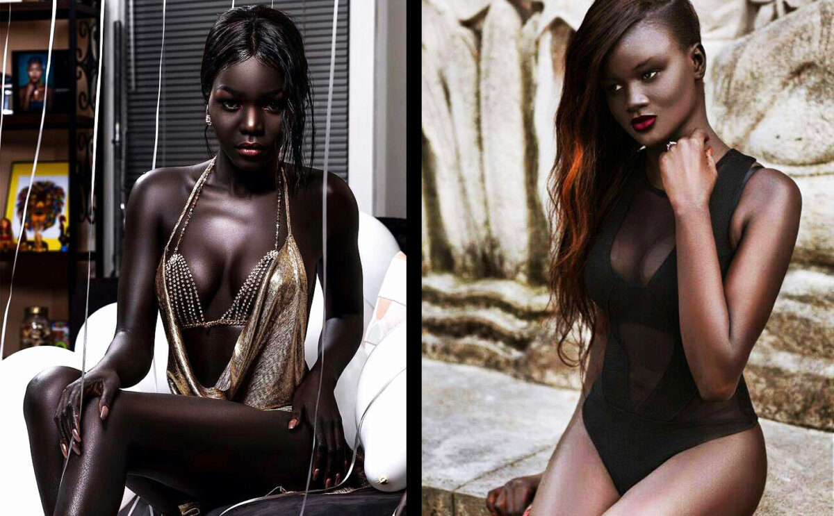 naked dark skinned girl