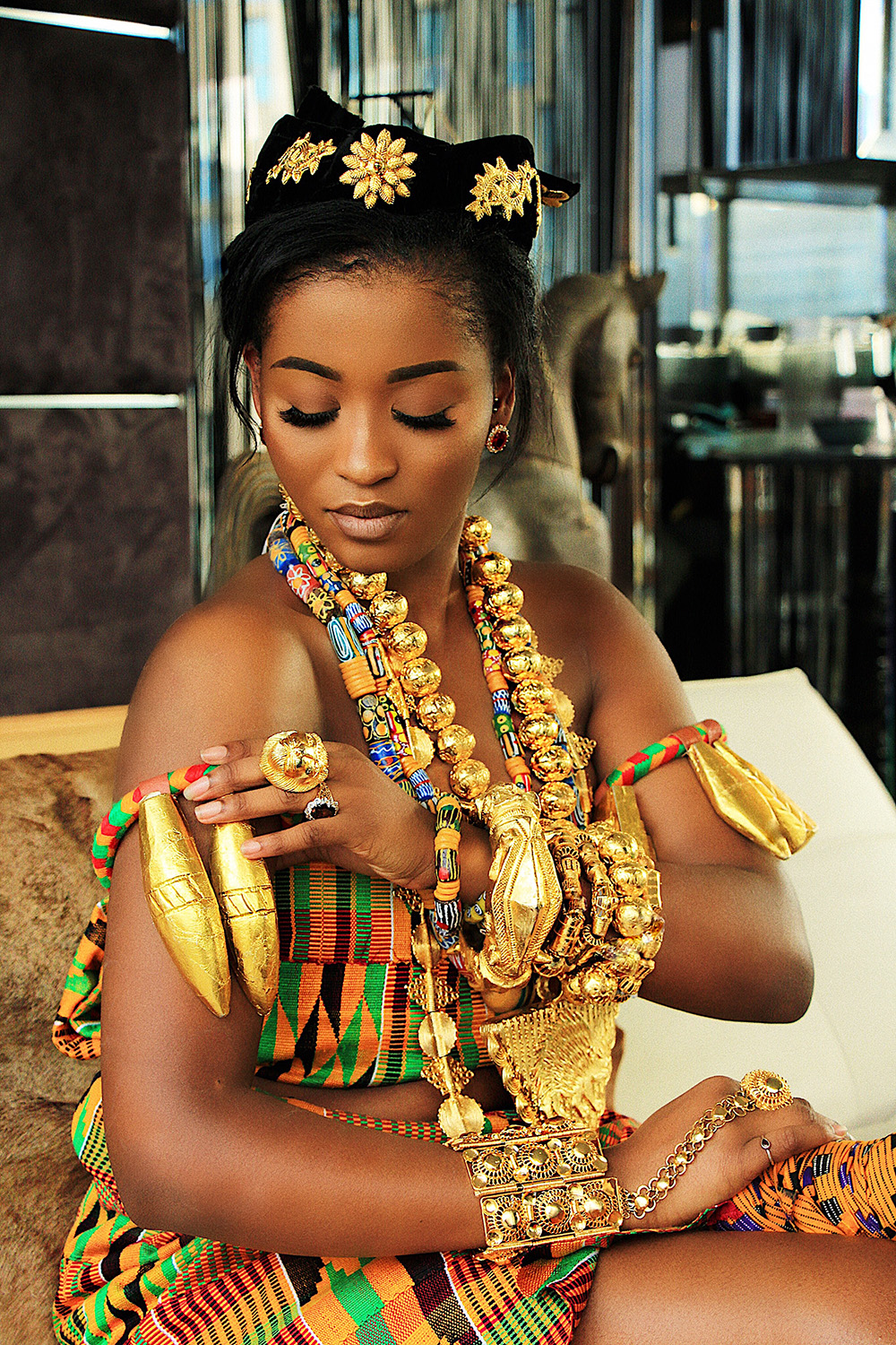 Beautiful Queen Celebrates Ghana At 60 In Fab Editorial