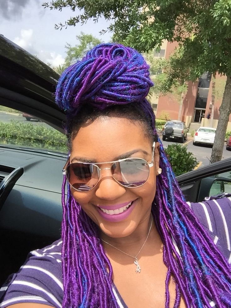Funky Coloured Faux Locs Styles For Those Who Like To Play