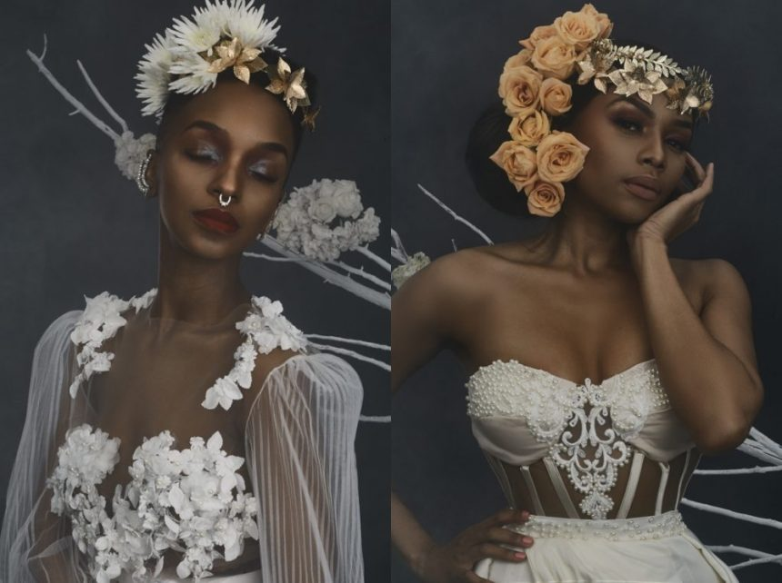 Bonang matheba stuns in fabulous look book by south for Elle king wedding dress designer