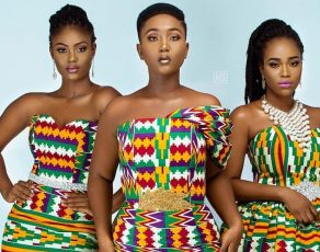 HOT SHOTS: See These Amazing Kente Outfits By Ace Ghanaian Designer Afriken By Nana