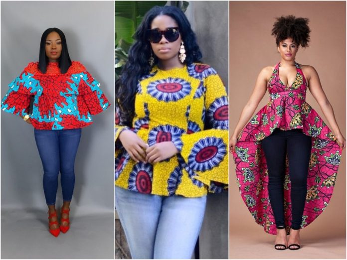 african prints top and jeans styles to rock this weekend