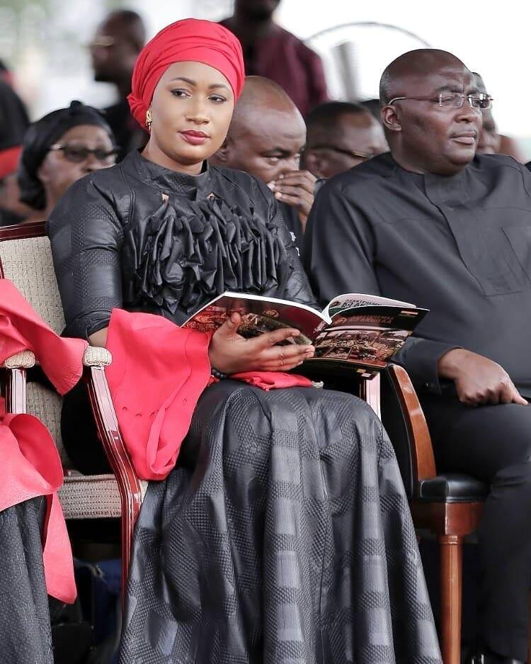 pics even at asantehene s funeral samira bawumia is still super