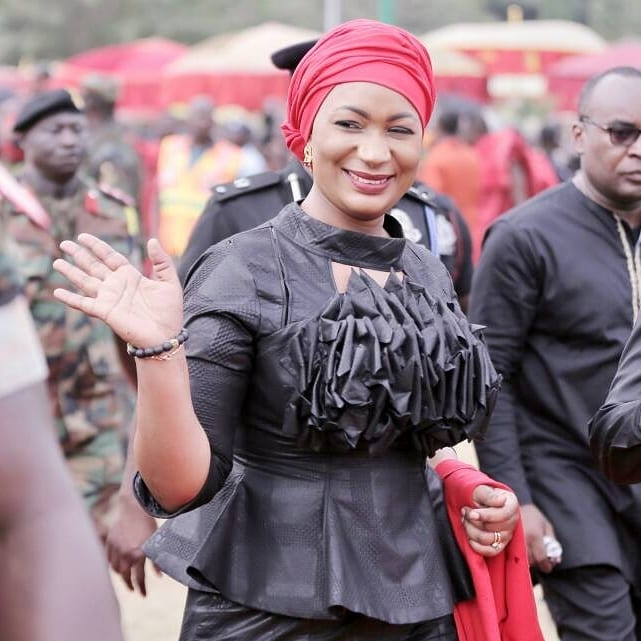PICS: Even At Asantehene's Funeral, Samira Bawumia Is