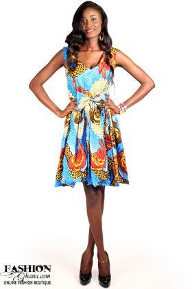 02d7fbb67ea2c African Print Sleeveless Skater Dress