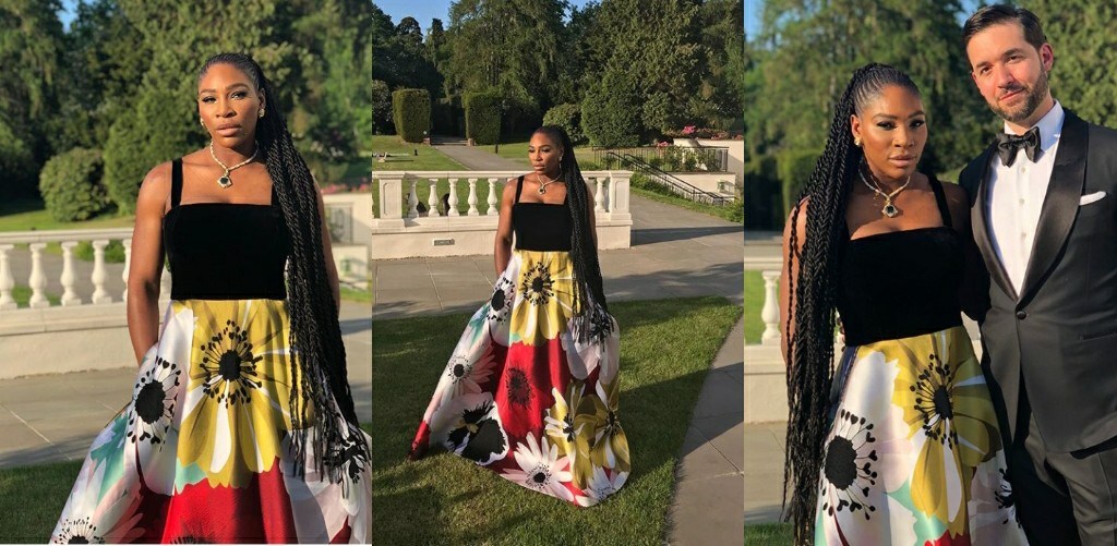 43fb3c815c Video  Watch How Serena Williams Added Sports Fashion To Her Wedding Guest  Style