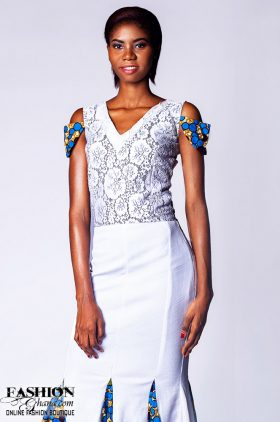df0eb4ebd538a Evening Dress With African Print Godets