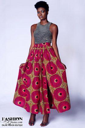 2334e1ae9efa5 African Print High Waist Maxi Skirt
