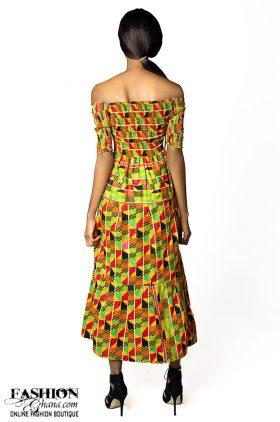 de4b9c08af106 African Print Kente Maxi Dress