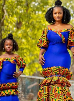 #STYLEGIRL: Gh SyleGirl Eyram Serves Beautiful African Print Mother & Daughter Looks On Her Sister's Birthday