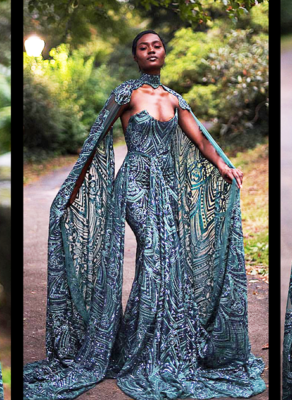 #HOTSHOTS: Mimmy Yeboah Unleashes An Royal Fabulous Dress In The 'Queen Of The Swamp' Editorial