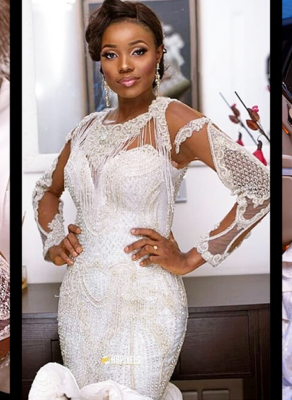 #HOTSHOTS: See The Bliss On This Nigerian Brides Face And The Dress That Made It