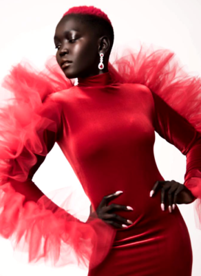 #HOTSHOTS: Sudanese Beauty Kim Nyakim Stars In Fabulous Editorial By Reign Noire