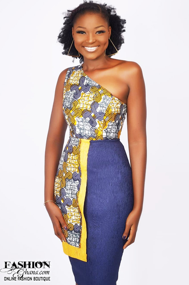 1d1f15ec337a8 Mawube Couture One Off Shoulder Pencil Dress – FashionGHANA.com  100 ...