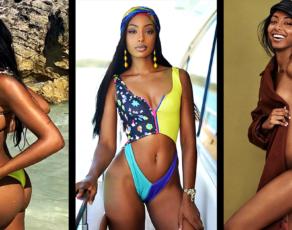 #BIKINIBAE: South Africa's Bombshell, Pocahontas, Aliyah & Princess Jasmine Look Alike Olay Noel Is Just Too Much