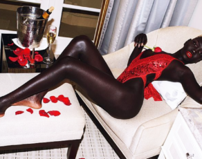 #HOTSHOTS: Darkie Queen Nyakim Served The Most Tasteful Valentines Images Putting All Her Melanin On Blast